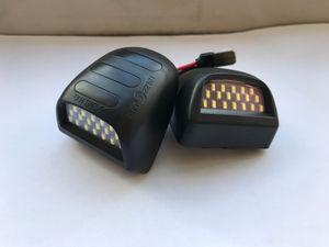 Luce targa 2 pezzi per Chevrolet Silverado Accessori per auto colore rosso bianco Lampadina LED per Chevrolet