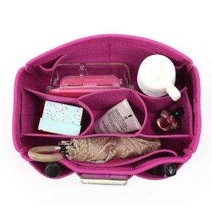 Frauen Cosmetic Organizer Filz Stoff Handtasche Tote-Geldbeutel mehr Taschen-Verfassungs-Speicher-Beutels Rose 30x18.5x15 faltbare Reisetasche CY200518
