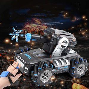 4 couleurs Garçon Jouet dérive réservoir lance des bombes à eau Rc Drift Assault Off-road Voiture Induction double - mode Télécommande Enfants De Jouets M1702