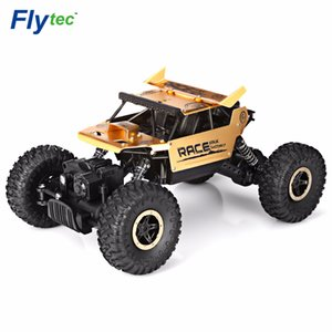 Flytec 9118 Rc Car 1 18 2 .4g 4wd Alloy Rock Crawlers Rc Climbing Car High Speed Racing Car Clamber Off -Road Vehicle Toy