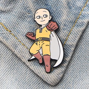 DMLSKY 20pcs / lot ONE PUNCH-MAN Lustige Pin Art Emaille Pins und Broschen Revers Pin-Rucksack-Beutel-Abzeichen Bekleidung Abziehbilder Geschenke M3513