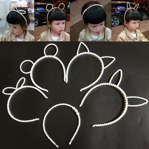Perle Drill Kinder Hairpillar Hoop koreanische Prinzessin Handmade Perlen Kinderhaar Trim