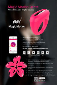 Magic Motion Intelligent APP Remote Control Vibrator Strong Vibrating Cock Ring Waterproof Silicone Clitoral Bullets Sex Vibrator for Couple
