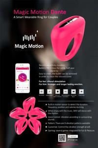 Magic Motion Intelligent APP Remote Control Vibrator starker vibrierender Hahn-Ring wasserdichter Silikon-Clitoral Bullets Sex Vibrator für Paare