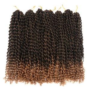 Tutku Büküm Saç 18 inç 7 paketleri Su Dalgası Tığ Örgü Tutku twist Tığ Saç Tutku Büküm Örgü Saç Uzantıları için