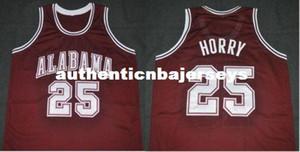 A buon mercato personalizzato # 25 Robert Horry Alabama Crimson Tide College Basketball Jersey ricamo cucito personalizzato qualsiasi numero e nome
