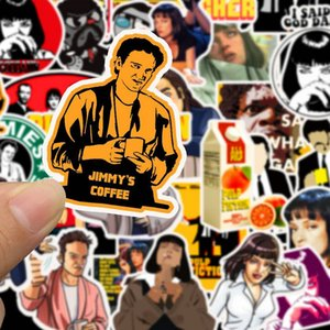 50Pcs Classic Movie Pulp Fiction Sticker Waterproof For Laptop Motor Skateboard Luggage Guitar Toy DIY Stickers