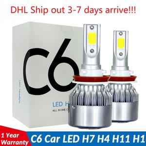 Cheapest price COB C6 Real 7600LM 120W LED Car Headlight H1 H4 H7 9004 9005 9006 Kit Hi Lo Light Bulbs 6000K
