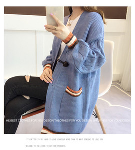 Solid Color Womens Sweater Cardigan Long Sleeve V Neck Womens Loose Sweaters Ladies Slim Casual Cardigan