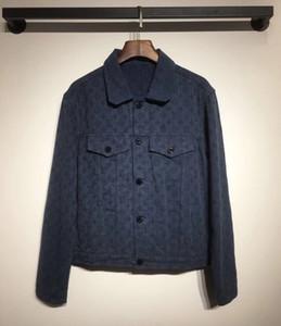 Женщины дизайнер джинсовой куртки весна Antumn моды Марка Кнопка Пальто для Ледибранд куртка Denim карман пальто Письмо Распечатать Denim CoatZ1