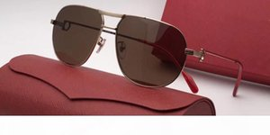 CT100071 Luxury Sunglasses Frame Leather Pilots Popular Vintage Wooden Legs Uv400 Lens Top Quality Protection Eye Classic Style With Packag