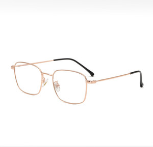 Rectangle Ful-Rim Metal Vintage Style Eyeglass Frame UV resistant plain glass spectacles 12g light weight Glasses for men and women 9192