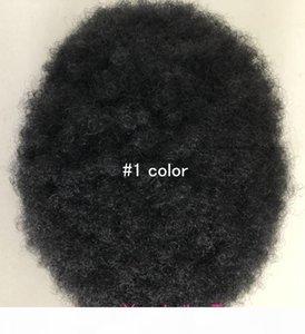 Parte anteriore del pizzo uomini Toupee Afro Curl parrucchino per i giocatori Basketbass e Basketball Fans parrucca sostituzione Virgin malese capelli degli uomini piena del merletto