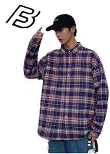 2020 Long Sleeve Loose Korean Fashion Coat Spring And Summer Plaid Japanese Shirt New Shirt Joker