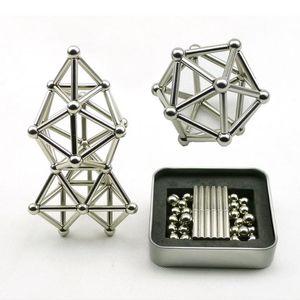 لعبة مجموعة مضحك 36PCS مبتكرة العصي المغناطيسي 27PCS كرات الصلب لعبة بناء كتل لغز لتخفيف الضغط