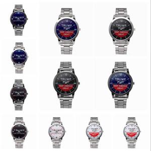 Trump 2020 Quartz Watch Silvery Stainless Steel Watchband Donald Trump Women Men Retro Wrist Watches Clock Party Favor LJJA4142-1