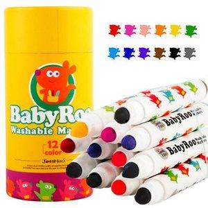 Новое прибытие Дети Живопись Граффити Акварель пера 12 цветов Multicolor цвет заливки Акварельные Pen Мальчики Drawing подарок детям