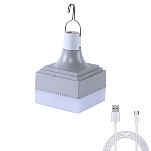 LED Camping Lumière USB Ampoule rechargeable pour lampe extérieure Camping 5 Modèle lanternes portable Feux d'urgence pour barbecue randonnée