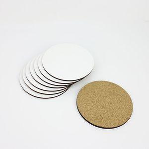 Round Square figura di esagono di trasferimento caldo Stampa di vuoto Cup Pad personalizzato sublimazione Coaster Mats all'ingrosso ZC2506