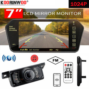 Koorinwoo For Sony 7 Inch bluetooth 1024P TFT Lcd Mirror Monitor Display Viedo MP5 Player Remote Control Car Park Camera