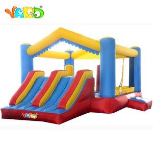 Slayt Ücretsiz Kargo ile YARD Konut Bounce Evi Çift Slide Trambolin Şişme Hava Jumper Bouncer Combo