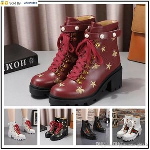 E32E Laureate Platform Desert Boot Chunky Heel Women Ankle Boot Martin Boots Ladies Party Botas Outdoor Hiking Boots & Box