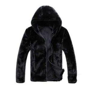 Mens Jacket Outono Inverno Faux Fur Jacket Men alta qualidade imitação de peles Homens Jaquetas Casacos Moda de Nova Aqueça Faux Fur Casacos