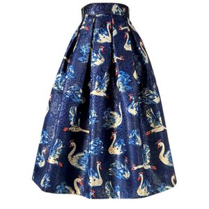 20190722 New Swan Skirt con gonna a mezza lunghezza blu tibetano in autunno e inverno