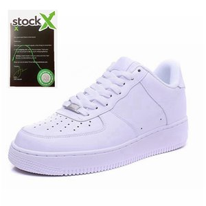 2020 new high quality Classical stock x men women Unisex low Casual shoes mens womens one 1 White star platform Sandals shoes stockx