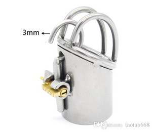 New Arrival PA Lock Male Chastity Cage Stainless Steel Chastity Device Sex Toys For Men Bondage Chastity Belt Q345