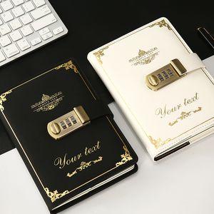 Pelle A5 A6 Vintage PU Hardcover spirale Pocket blocco della password per notebook Riviste Planner creativo Note Book migliore regalo di compleanno
