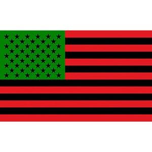 Afro American ABD Bayrağı Afrikalı Amerikalı Siyah Hayatlar Matter Banner Kırmızı Yeşil 150cm * 90cm 3 * 5FT Polyester Özel Banner Spor Bayrak