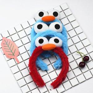 Sesame Street Partei liefert Plüsch Haarbänder Spielzeug ELMO Krümelmonster BIRD Band Armband Haarschmuck Puppe Geburtstagsgeschenk