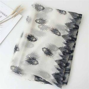 Femmes en mousseline de soie d'été Mode écharpe Châles mince en automne et en été Femme Châle et Wrap imprimé floral SS-024