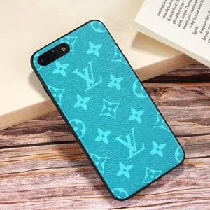 Híbrido couro monograma phone case para apple iphone xs max / xr 8/7/6 mais para as mulheres meninas tpu quadro de proteção integral tampa traseira à prova de choque