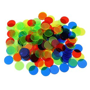 100pcs plástico bingo chips Círculo Juego de mesa Accesorios Tokens Monedas Partido Club Juegos familiares Suministros