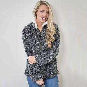 Herbst-Winter-weibliche Kleidung Frauen lösen Fluffy Bär Kpop Hoodie Mode Harajuku Warm moletom feminino Street