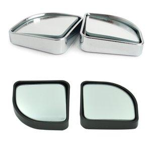 Fabricantes Direct Selling cada carro Invertendo redonda pequena em forma de leque Espelho 360 graus Car Rotating Blind Spot Black Mirror A