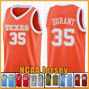 35 Kevin Jarrett 23 Калвер Дюран Texas Tech Red Raider NCAA Colloege Баскетбол Джерси Вышивка логотипов ORANGE ДФС