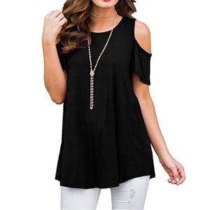 Las nuevas mujeres de manga corta camisetas flojas de la manera ocasional verano de las señoras tapas de la blusa camisa