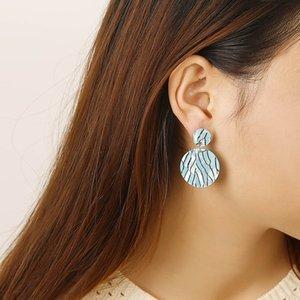 2020 designer European and American Jewelry retro fashion simple acrylic Earrings geometric Round Pendant Earrings