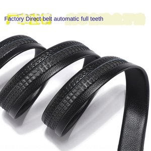 Full Card slot strip male automatic buckle bag edge scratch resistance 3.5cm trousers belt belt full tooth gear