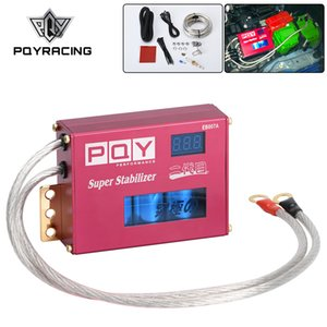 Universal Power Engine Chip Turbo Voltage Boost Regulator ECU Ignition Booster Volt Stabilizer LED Display Volt Controller PQY-QTS02