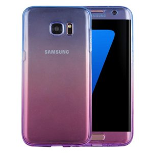 For Galaxy S7 Edge   G935 Double-sided Gradient Color TPU Protective Case Back Cover