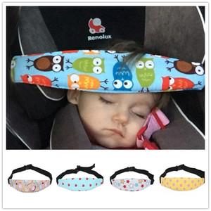 Ajustable asiento de bebé soporte de la cabeza del cochecito del coche de fijación del cinturón de seguridad del sueño de la correa de tela protectora