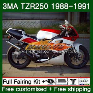 Para TZR250 cuerpo 3MA TZR250 1988 1989 1990 1991 121CL.27 Rojo Blanco TZR250RR TZR250 YPVS TZR 250 88 89 90 91 carenado