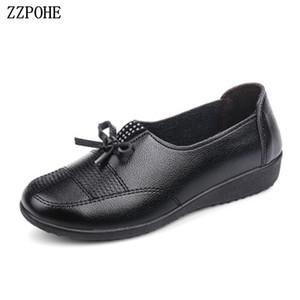 ZZPOHE 2018 Sonbahar yeni anne yumuşak alt kaymaz single ayakkabı büyük boy bayan ayakkabı rahat moda rahat düz