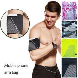 Braccio Sport Banda porta cellulare Bag esecuzione Jogging bracciale della palestra di esercitazione UK