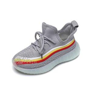 Crianças Kanye West Lace up garotos correm Shoes ADOFF grils Bred Trainers Zebra estática Preto Creme Branco Sesame Outdoor Melhor Sneakers Sports