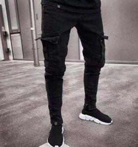 Стильные мужские дизайнерские джинсы 19SS, весна 2019, рваные, рваные, рваные, дырки, дизайн джинсовые брюки-карманы, карманы, брюки Hommes